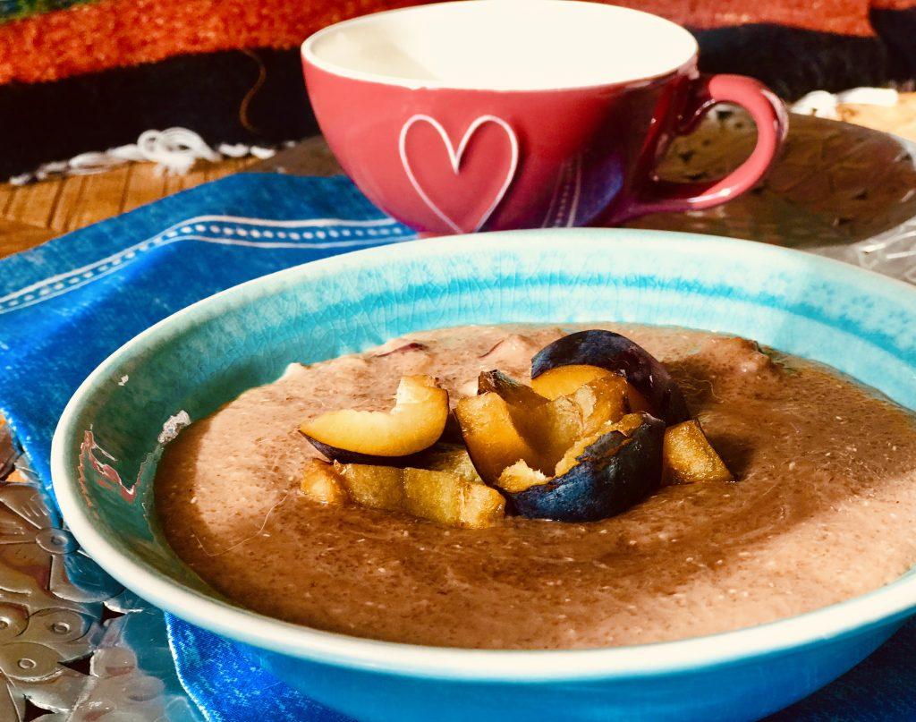 Čokoládová kaše z žitné krupice a ovoce - recepty Metabolic Balance