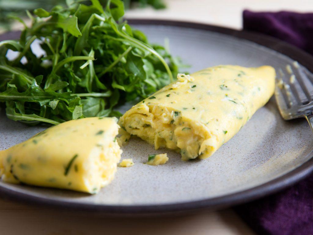 Francouzská omeleta, rukola - recepty pro hubnutí, recepty Metabolic Balance, Low carb