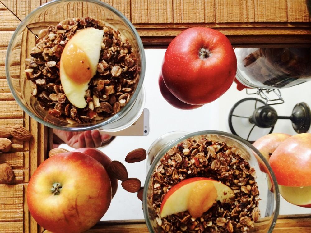 Jablečný skořicový pudink s žitnou granolou podle Metabolic balance