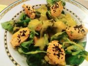 Jarní salát se sýrovými nočky a s mangovou zálivkou podle metabolic balance