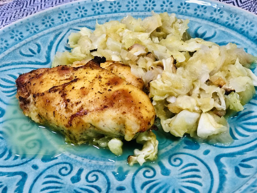 Jablečné zelí s pečeným kuřetem - program Metabolic Balance