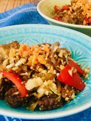Tempeh s květákovou rýží a Tamari omáčkou