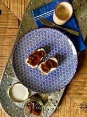 Rychlá meruňková marmeláda na žitném chlebu s tvarohem podle metabolic balance®