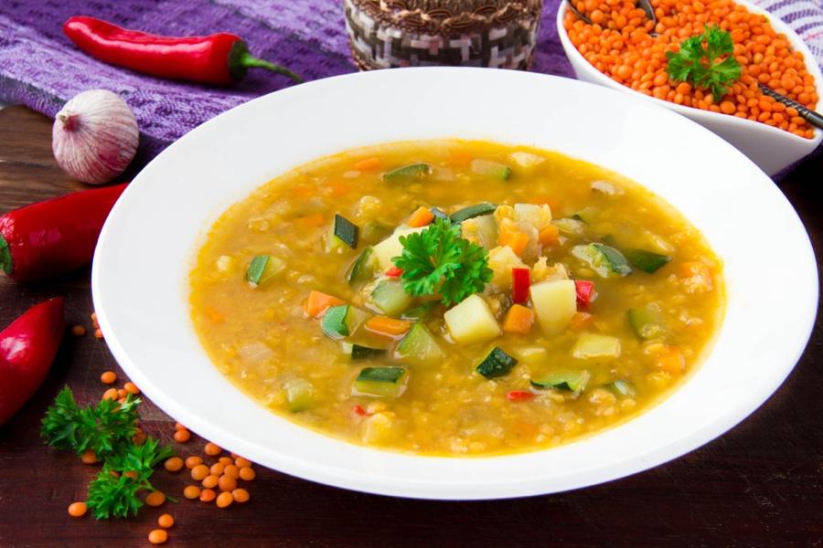 Polévka ze žluté nebo červené čočky podle Metabolic balance®